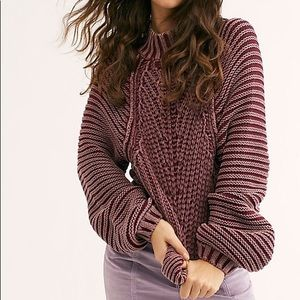 NWT FP chunky knit sweater